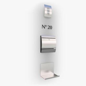 letterbox elements modern 3d model