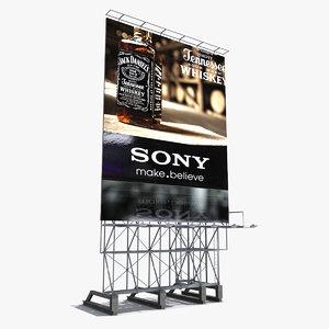 roof billboard obj