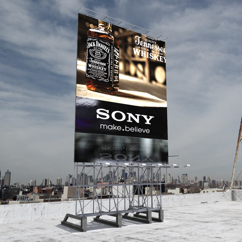 roof billboard obj