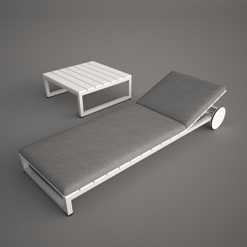 3ds max sun lounger