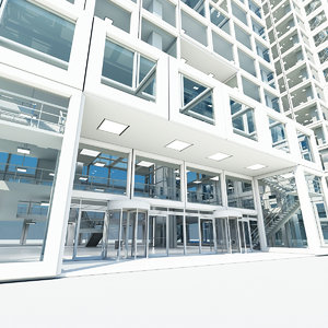 office building 2 3d max