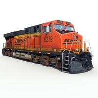 3d railway ge locomotive train model