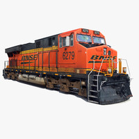 3d railway ge locomotive train model