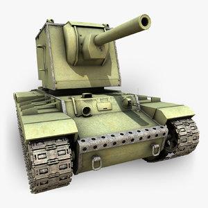 3d model soviet tank kv2u