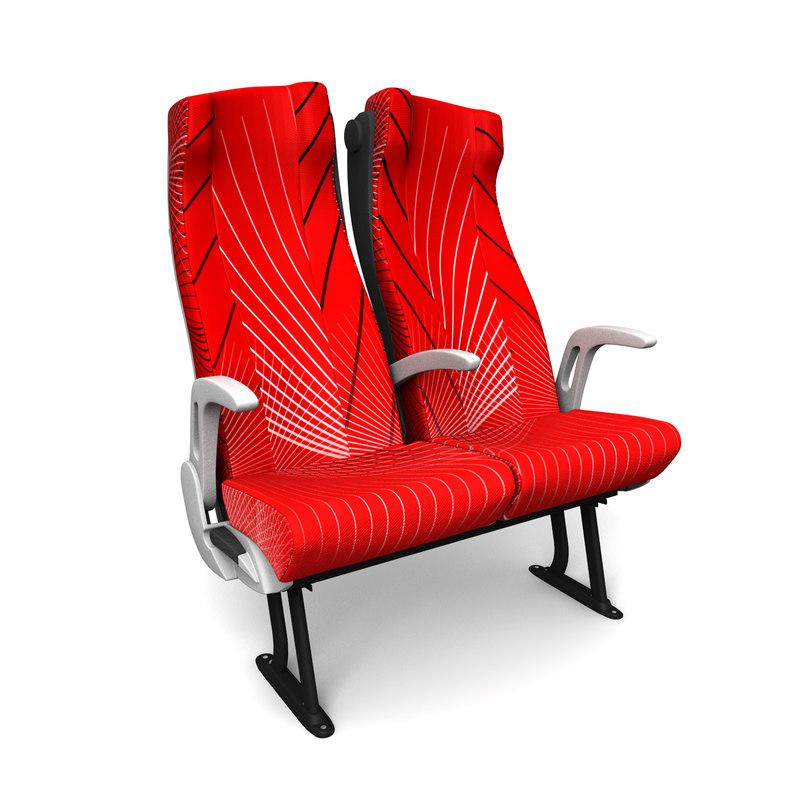 c4d bus seats