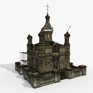 3d model church temple building