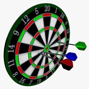 3ds dartboard dart board