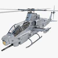 Bell AH-1Z Viper 3 Rigged