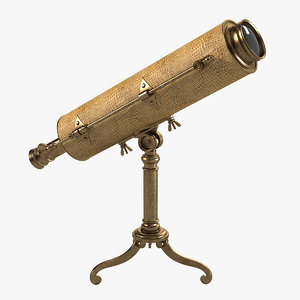 vintage table telescope hansord 3d ma