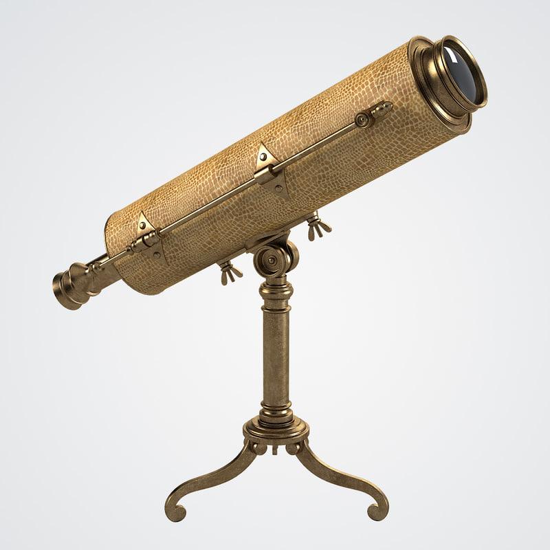 vintage table telescope hansord 3d ma