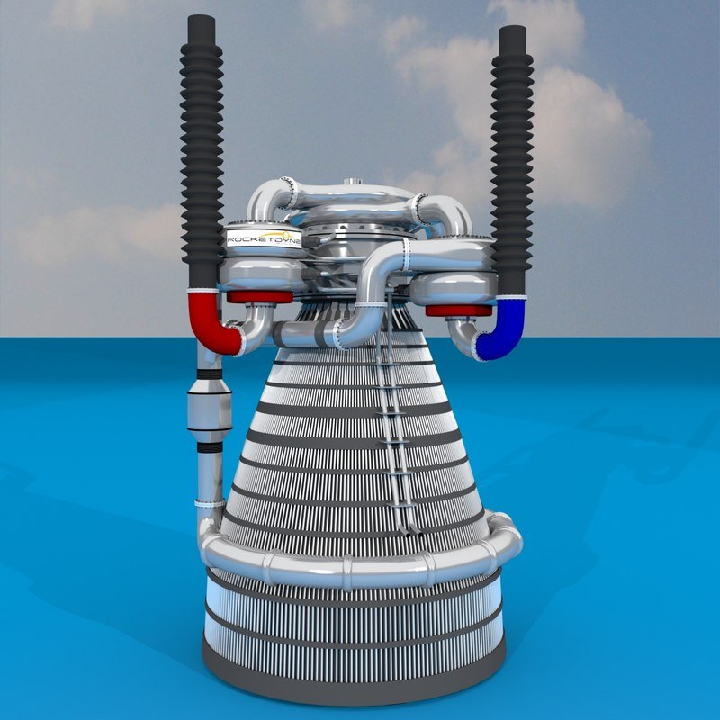 3d liquid rocket engine