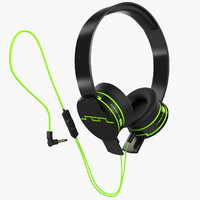 3d headphones sol republic green model