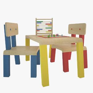 s desk 3d model