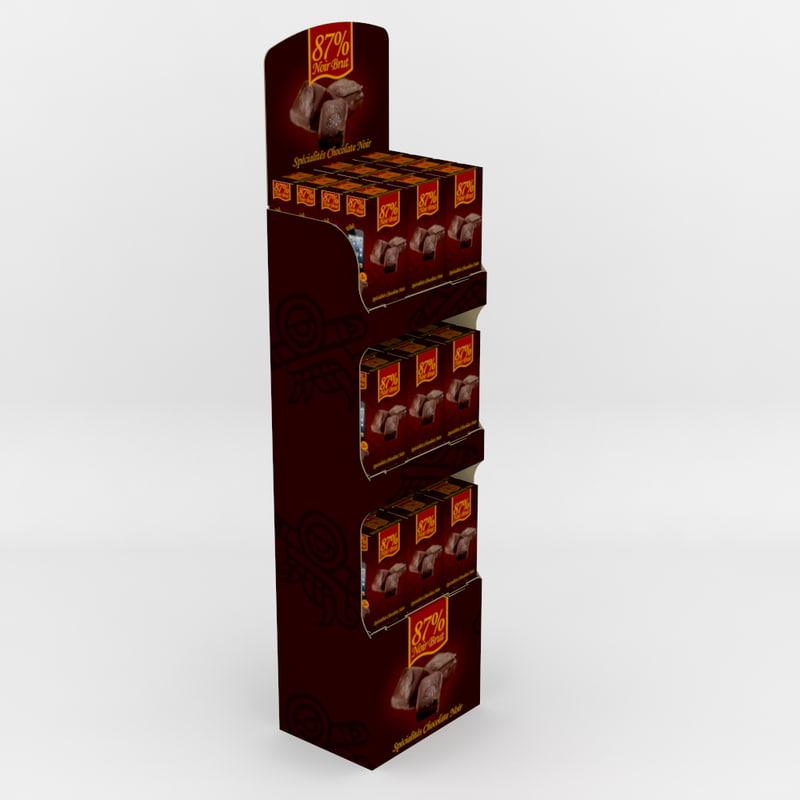 corrugated display 3d model