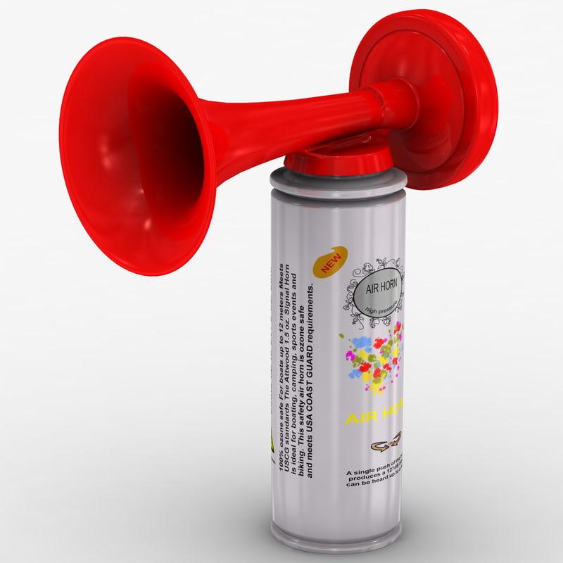 air horn 3d c4d