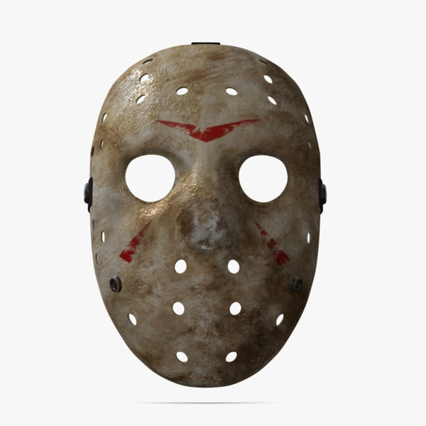 famous mask jason voorhees obj