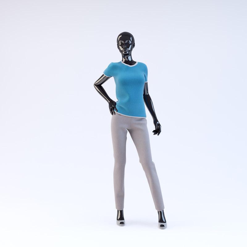 showroom mannequin 18 obj