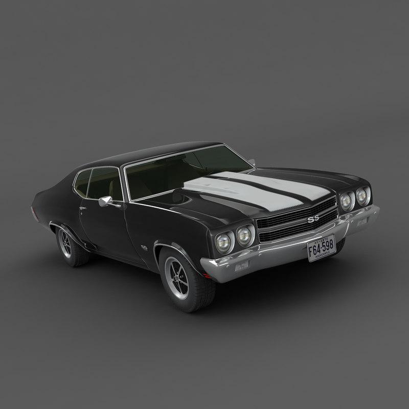 chevrolet chevelle 1970 3d model