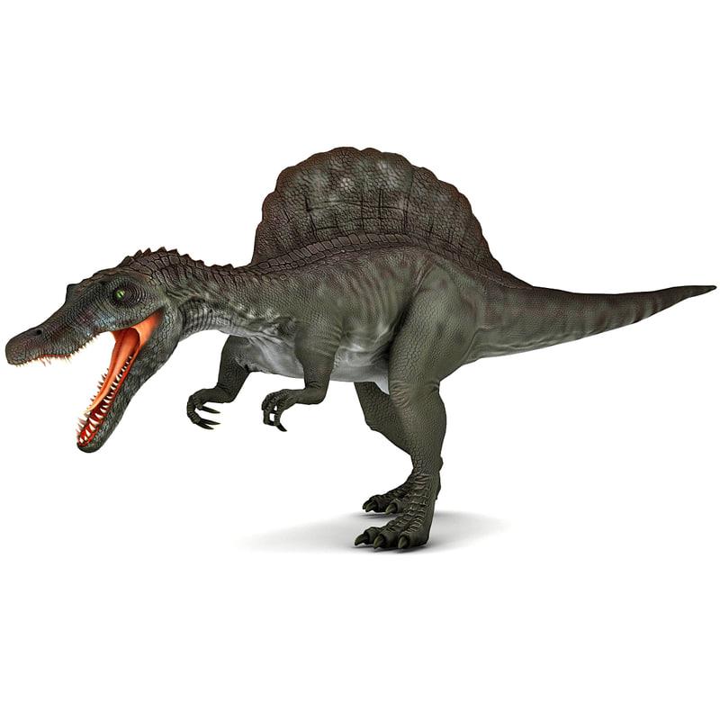 spinosaurus prehistoric modelled 3d 3ds