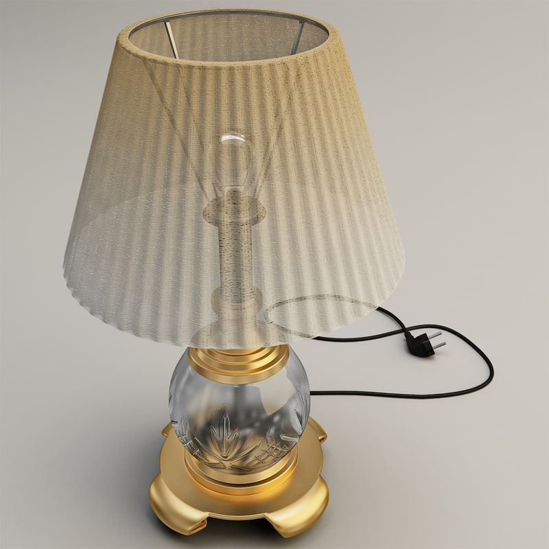 c4d table lamp