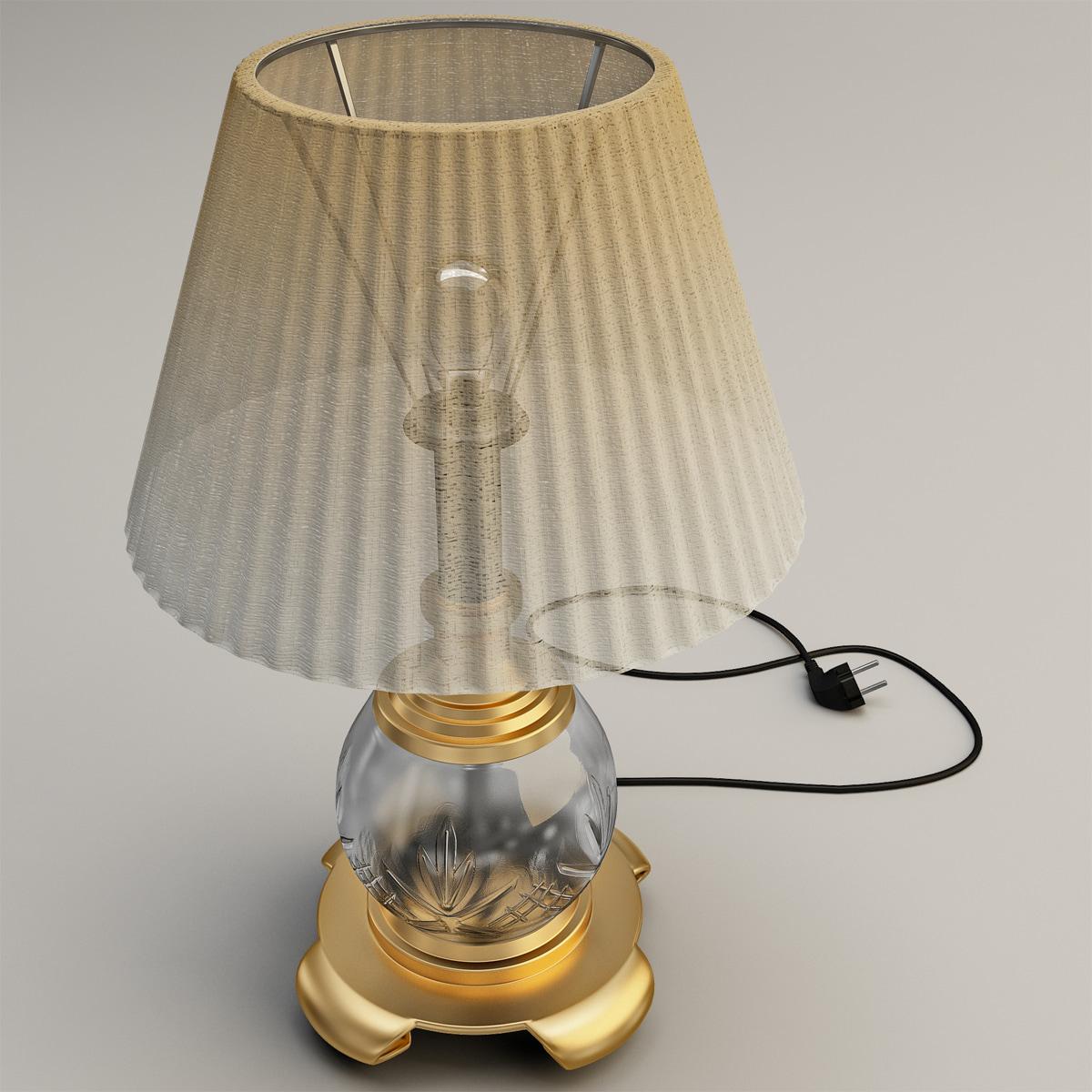 c4d table lamp