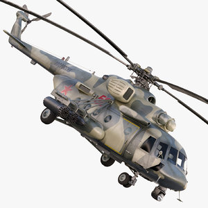 terminator helicopter mi-8 3d model