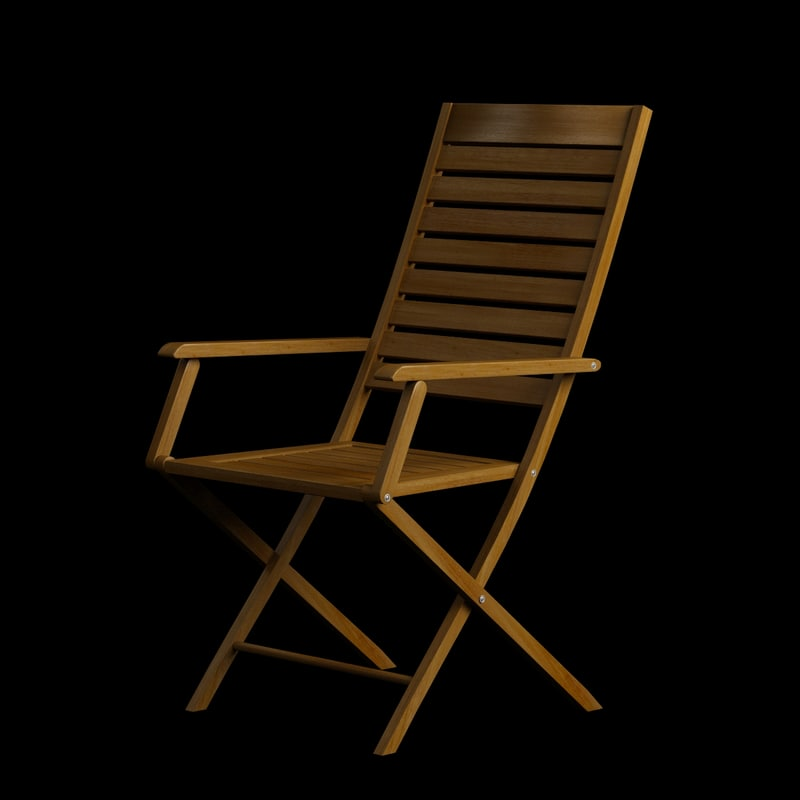 wooden chair arm wood 3d max