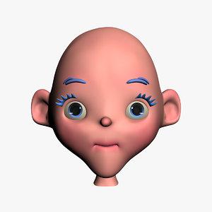 3ds cartoon head