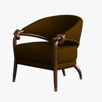 Armchair Wooden 008