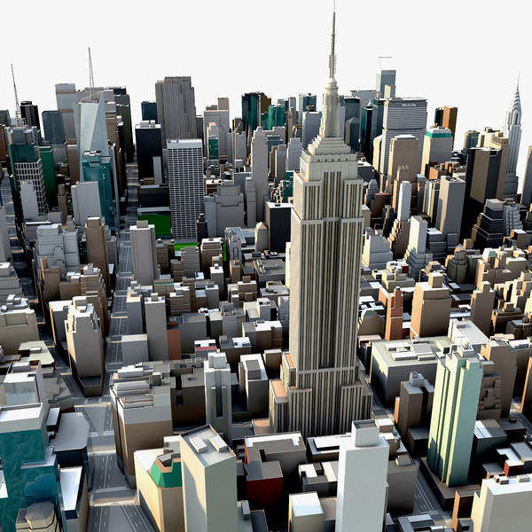 new york city manhattan 3d model