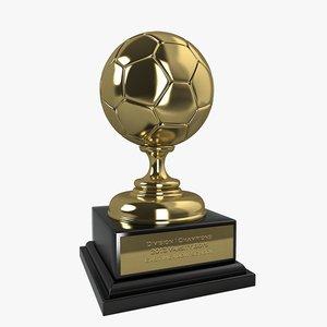 3d model soccer trophy