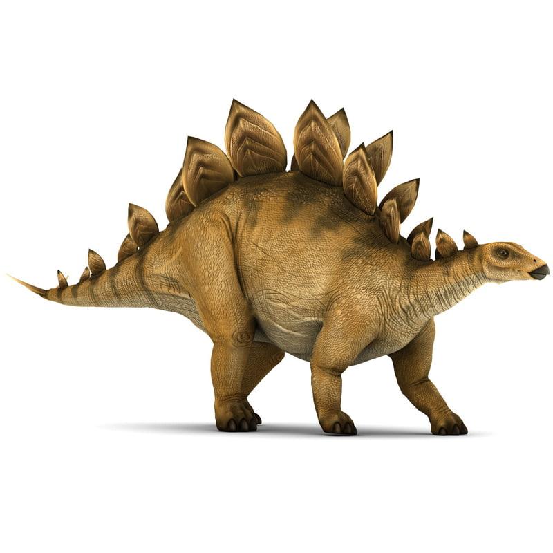 stegosaurus pose 1 3d model