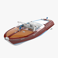 riva aquarama boat 3d model