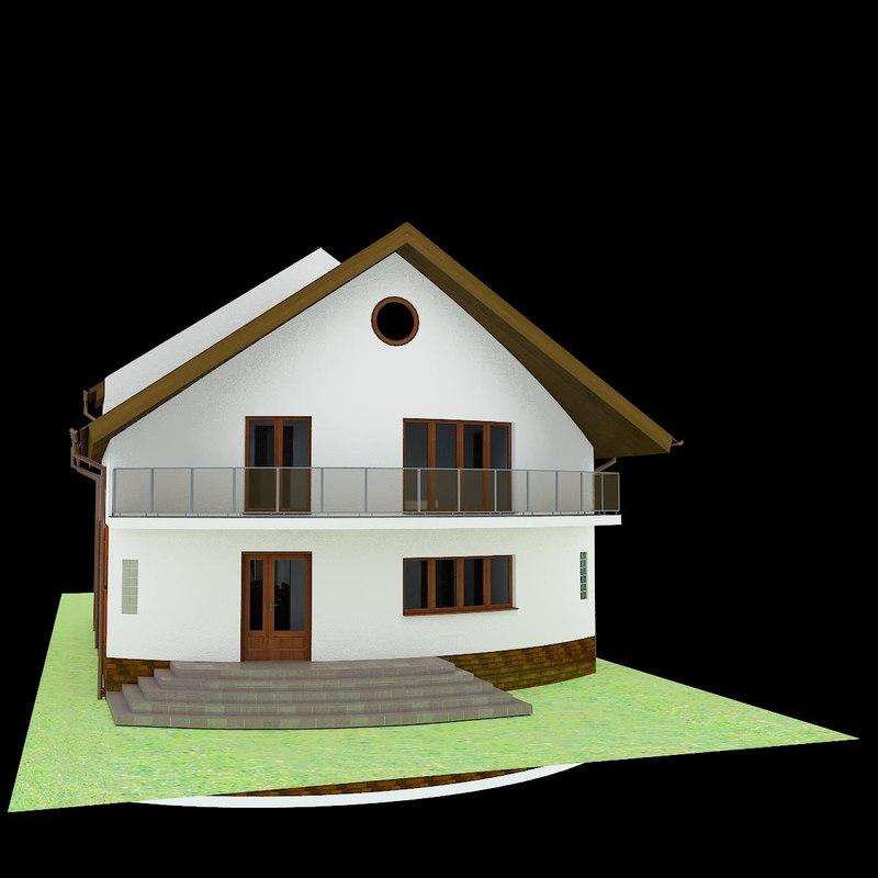 3d house garden interior