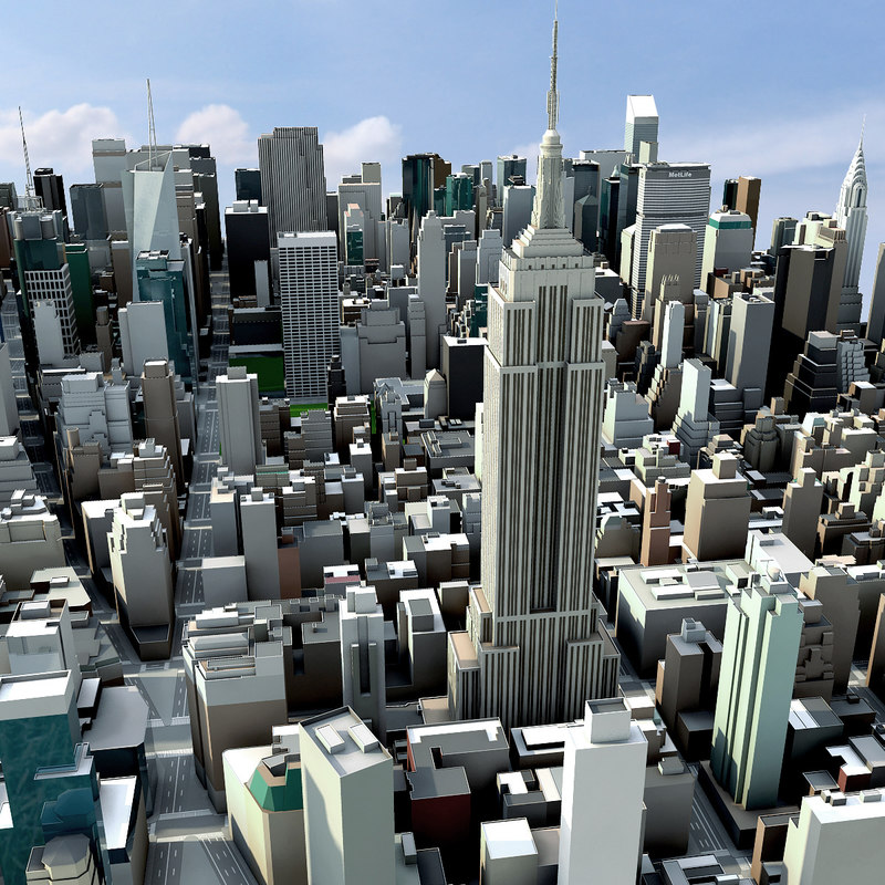 New york city manhattan 3d model for New york models