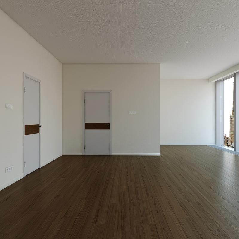 3d model gym interior scene