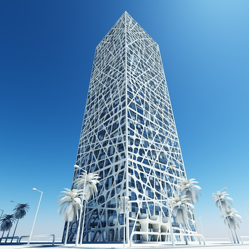 modern architectural 3d model