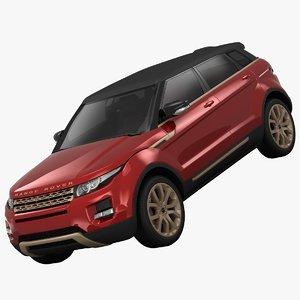 land rover range evoque 3d 3ds