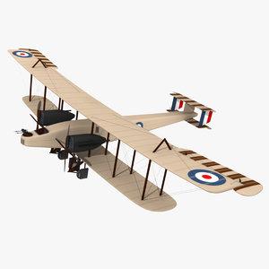 aircraft hendon december 3d model