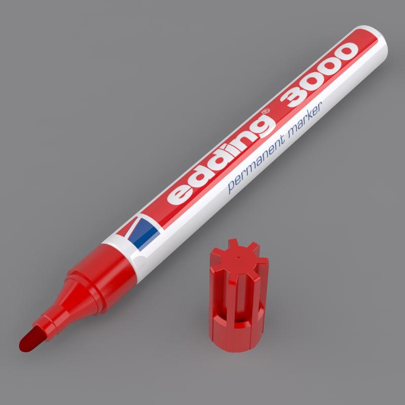 3d model edding marker