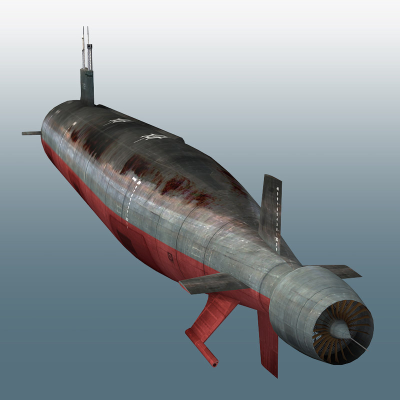 3ds max s connecticut ssn-22 submarine