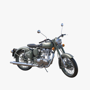 3ds max motorcycle royal enfield