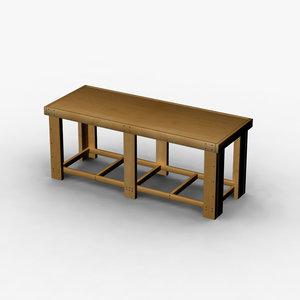 bench workbench obj