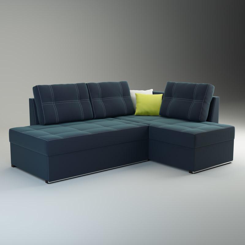 sofa milana 3d model