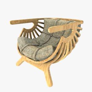 shell chair marco sousa dwg