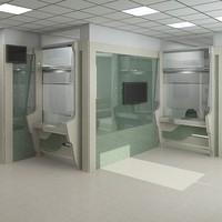bank interior scene 3d max
