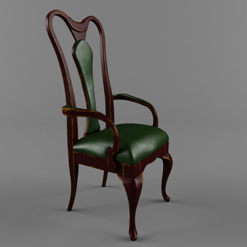 3ds max chair old art