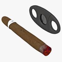 cigar cutter 3d model