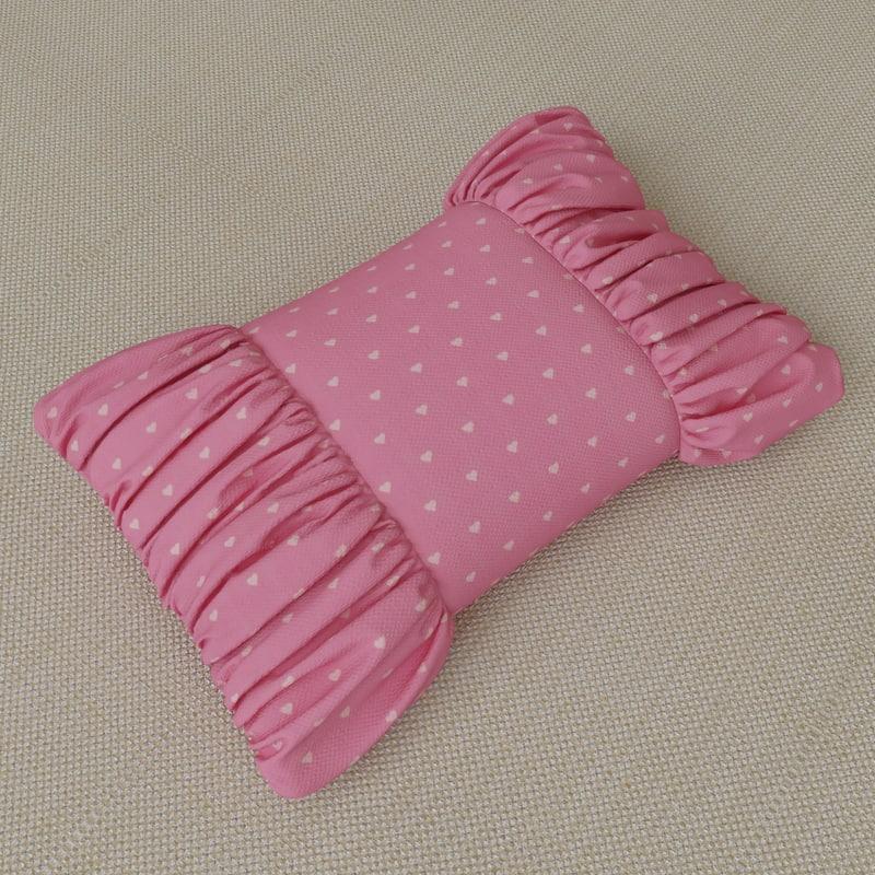 bow pillow 3d obj
