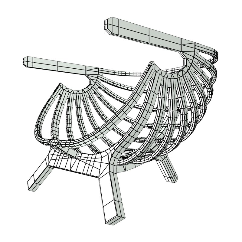 shell chair marco sousa dwg